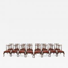 Set of 16 Victorian mahogany dining chairs in the Chippendale style - 871635