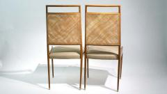 Set of 2 Midcentury Chairs in Walnut and Cane - 1882278