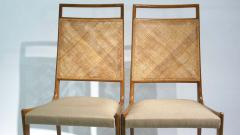 Set of 2 Midcentury Chairs in Walnut and Cane - 1882279
