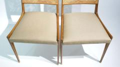 Set of 2 Midcentury Chairs in Walnut and Cane - 1882281