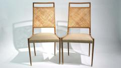 Set of 2 Midcentury Chairs in Walnut and Cane - 1882282