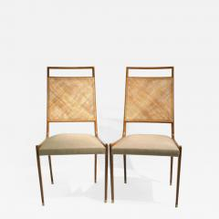 Set of 2 Midcentury Chairs in Walnut and Cane - 1883625