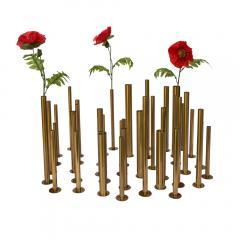 Set of 20 brass sculptural tubes - 1060758