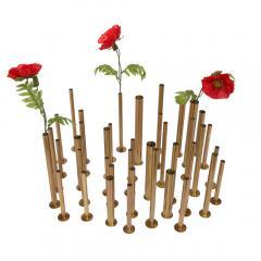 Set of 20 brass sculptural tubes - 1060760