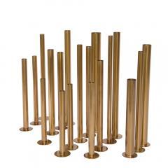 Set of 20 brass sculptural tubes - 1060761