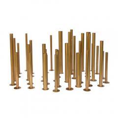 Set of 20 brass sculptural tubes - 1060762