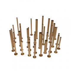 Set of 20 brass sculptural tubes - 1060763