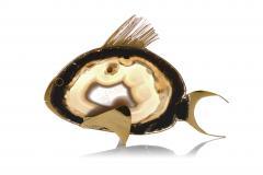 Set of 3 Agate Fish Sculptures - 1672060