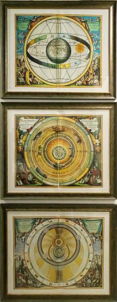 Set of 3 Celestial Lithographs Planisphaerium Coeleste 30 100 19th Century - 2099131