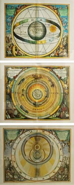 Set of 3 Celestial Lithographs Planisphaerium Coeleste 30 100 19th Century - 2099617