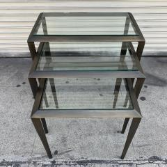 Set of 3 Nesting Tables in Antique Brass - 1276159