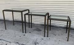 Set of 3 Nesting Tables in Antique Brass - 1276160