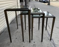 Set of 3 Nesting Tables in Antique Brass - 1276166
