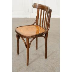 Set of 4 Early 20th Century French Oak Bentwood Dining Chairs - 1794770