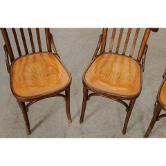 Set of 4 Early 20th Century French Oak Bentwood Dining Chairs - 1794774