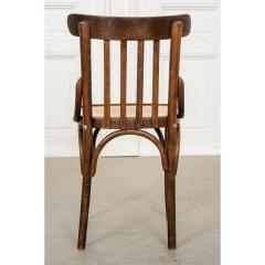 Set of 4 Early 20th Century French Oak Bentwood Dining Chairs - 1794782