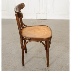 Set of 4 Early 20th Century French Oak Bentwood Dining Chairs - 1794785