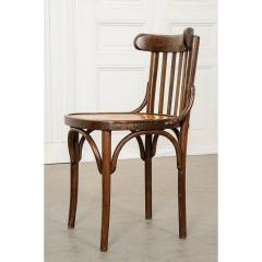 Set of 4 Early 20th Century French Oak Bentwood Dining Chairs - 1794791