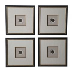 Set of 4 Framed Bronze Coins of Roman Emperors Stamped Dated - 83411