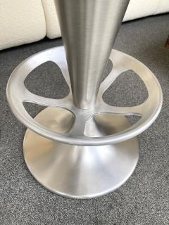 Set of 4 Stainless Steel Cone Bar Stools Italy 1990s - 2074006