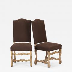 Set Of 6 Bleached Oak Wood Os Du Mouton Chairs   398205