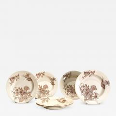 Set of 6 English Soup Bowls - 1514157