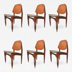 Set of 6 Fratelli Proserpio design chairs - 1143337
