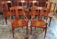 Set of 6 French Empire Marquetry Chairs - 2058006