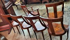 Set of 6 French Empire Marquetry Chairs - 2058009