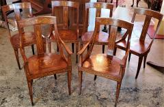 Set of 6 French Empire Marquetry Chairs - 2058012