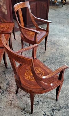 Set of 6 French Empire Marquetry Chairs - 2058013