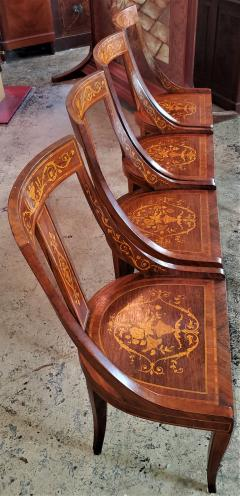 Set of 6 French Empire Marquetry Chairs - 2058014