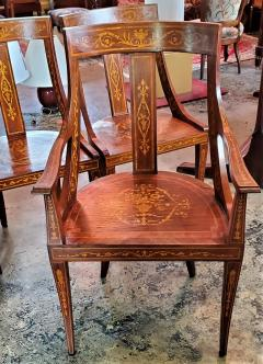 Set of 6 French Empire Marquetry Chairs - 2058015
