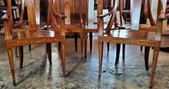 Set of 6 French Empire Marquetry Chairs - 2058016