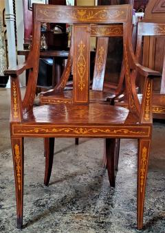 Set of 6 French Empire Marquetry Chairs - 2058018