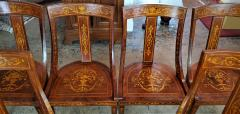 Set of 6 French Empire Marquetry Chairs - 2058019