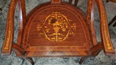 Set of 6 French Empire Marquetry Chairs - 2058020