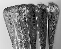 Set of 6 Georgian Silver Berry Serving Spoons London 1823 9 - 1631076