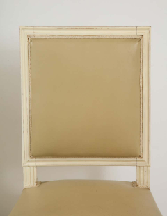 Set of 6 Louis XVI Style Dining Chairs in a Taupe Leather - 1539040