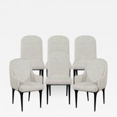 Set of 6 Modern Grey Dining Chairs - 1572582