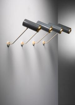 Set of 6 Modernist metal wall or ceiling spots - 1702251