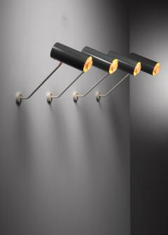 Set of 6 Modernist metal wall or ceiling spots - 1702253