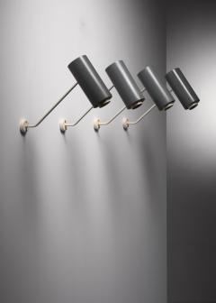 Set of 6 Modernist metal wall or ceiling spots - 1702254