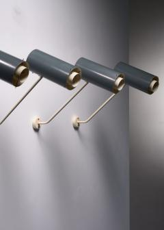 Set of 6 Modernist metal wall or ceiling spots - 1702255