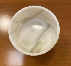 Set of 6 Short Carrara Marble Glasses Italy - 1591331