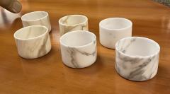 Set of 6 Short Carrara Marble Glasses Italy - 1591333