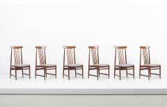 Set of 6 Spindle Back Dining Chairs Denmark 1960s - 2076827