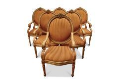 Set of 6 Venetian Arm Chairs - 630470