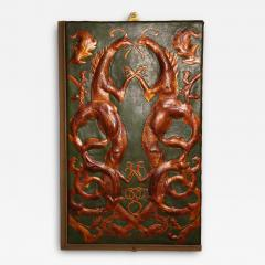 Set of 8 Chinoiserie Leather Valence Panels - 1466270