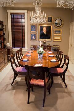 Set of 8 Handmade Mahogany Classical Mahogany Dining Chairs Circa 1825 Boston - 1793663